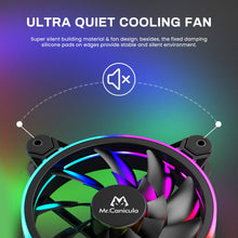 Load image into Gallery viewer, (D967)Mr.Canicula 3-Pack 120mm ARGB LED Case Fan,1262KK Quiet Edition High Airflow Adjustable Color LED PC Fan, CPU Coolers,Radiators System