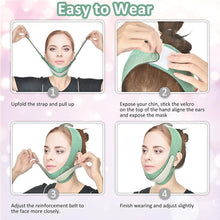 Load image into Gallery viewer, (D229)Facial Slimming Strap, Double Chin Reducer, Facial Weight Lose Slimmer Device V Line Lifting Tightening Firming Face Lift Tape Chin Strap Belt