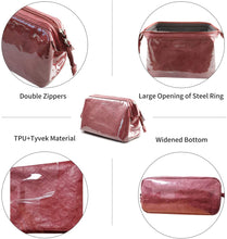 Load image into Gallery viewer, (S312)OMYSTYLE Makeup Bag Cosmetic Bag for Purse, Portable Travel Toiletry Pouch for Women and Girls, Waterproof Tyvek Makeup Bag Organizer