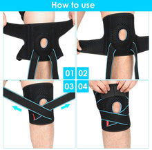 Load image into Gallery viewer, (H630)Knee Brace Support for Men and Women Compression Brace Sleeve for Arthritis Pain Meniscus Tear Patellar Tendon Support, ACL, MCL,Sports,Adjustable Size