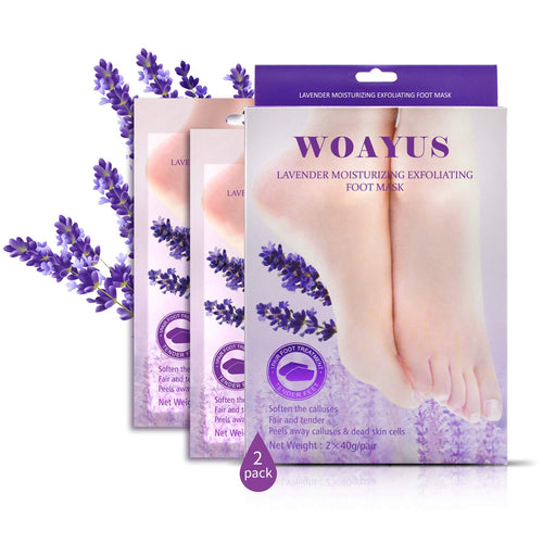 (V273)Foot Peel Mask, 2 Pack Exfoliating Foot Peeling Spa Masks for Dead Skin and Calluses, Baby Soft Smooth Feet Care For Men and Women