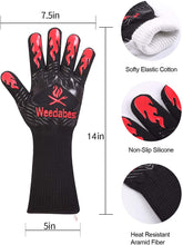 Load image into Gallery viewer, (G298)WEEDABEST BBQ Gloves for Smoker,Heat Resistant Oven Gloves Long Sleeve,Grill Gloves Heat Proof for Man