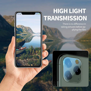 (T537)[2 Pack]Camera Lens Protector Tempered Glass Camera Lens Protector for iPhone 11 Pro Max(6.5 inch) Friendly No-Bubble High Definition Clear