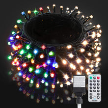 Load image into Gallery viewer, (K291)BlcTec LED Christmas Lights 99ft 300 LED Color Changing Christmas Tree Lights Warm White & Multi Color, UL Listed 11 Modes Outdoor Fairy String Lights