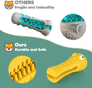 (H061)BASEIN Dog Chew Toys for Aggressive Chewers Large Medium Breed, with Squeaky Aggressive Chew Toys Tough Chew Toys