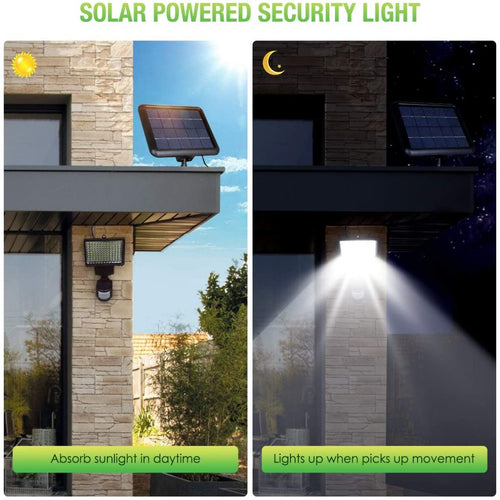 (K722)INSOME Solar Security Lights, Motion Sensor Lights Outdoor, LED Flood Lights Outdoor Spotlights, Ajustable IP65 Waterproof