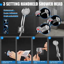 Load image into Gallery viewer, (D316)HUOSUC Shower Head, High Pressure 8'' Rainfall Shower Head/Handheld Combo with 60'' Hose, Anti-leak Shower Head