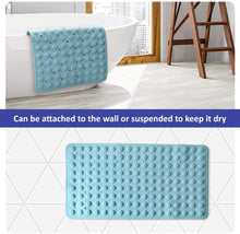 Load image into Gallery viewer, (R703)VOOWO Non Slip Bathtub Mat,Long Bath Shower Mat with Drain Holes,Suction Cups,Machine Washable Pad for Bathroom