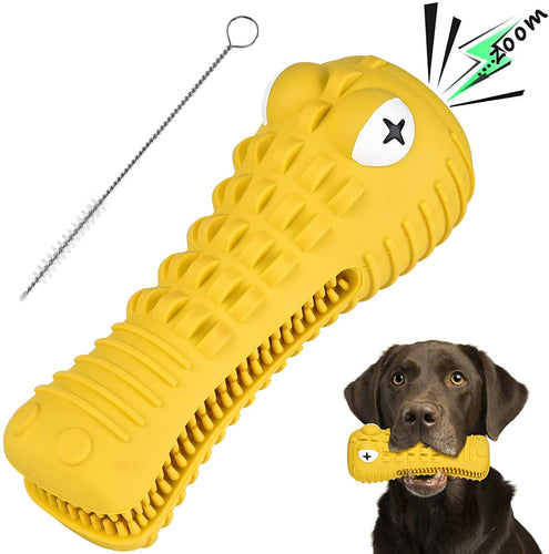 (H061)BASEIN Dog Chew Toys for Aggressive Chewers Large Medium Breed, with Squeaky Aggressive Chew Toys Tough Chew Toys for Medium Large Dogs