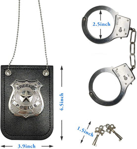 (Q981)HOMILY Hand Cuffs and Badge for Kids Pretend Toy Role Play