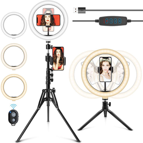 (Q276)10.2'' Ring Light with Stand, Selfie Ring Light with Stand and Phone Holder Camera Ringlight Selfie Light Ring with Tripod LED Ring Light for iPhone/Video Recording/Live Stream/Makeup/YouTube/TikTok