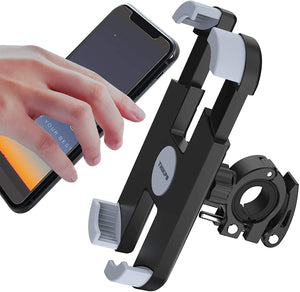 (G288)THIKPO Bike Phone Mount with Shockproof Silicone Pad, Secure Quick-Locking Clamp, 360° Rotation Angles for 4.7-6.8 inch Cellphones