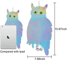 Load image into Gallery viewer, (G291)Gxeabg Bird Repellent Owl Reflector Bird Repeller Devices Scare Birds Away for House Windows and Gardens(2PCS)
