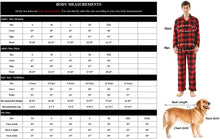 Load image into Gallery viewer, (T458)Matching Family Christmas Pajamas Sets,Soft Cotton Plaid Winter Holiday Pajamas Sets Christmas Sleepwear for Family