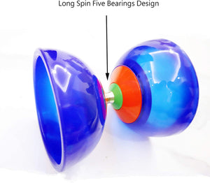 "(D273)OVOKIA Five Bearings Chinese Yoyo 5"" Diabolo Toy with Fiberglass"