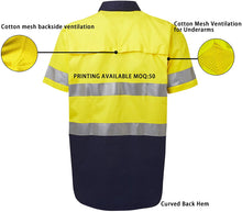 Load image into Gallery viewer, (T502)LANTERN FISH Hi Vis Shirts for Men Safety Workwear with 3M ScotchliteTM Reflective Tape Short Sleeve