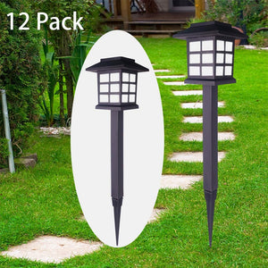 (d176)Solar Pathway Lights Outdoor LED Solar Garden Lights Solar Lights Outdoor Waterproof for Path