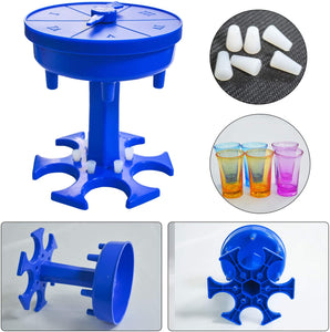 (M162) Game Turntable 6 Shot Glass Dispenser and Holder, Drinking Games Wine Dispenser for Bar Home Cocktail/Party