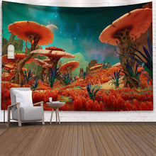 Load image into Gallery viewer, (W263)Holcuva Psychedelic Tapestry Mushroom Tapestry Fantasy Landscape Forest Tapestry Trippy Tapestries Wall Hanging for Bedroom Living Room Dorm Decor 51.2x59.1 Inches