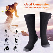 Load image into Gallery viewer, (F184)Sykooria Heated Socks - Winter Foot Warmers Socks - Upgraded Rechargeable Electric Heating Socks for Winter Outdoor Recreation Skiing Hiking Camping
