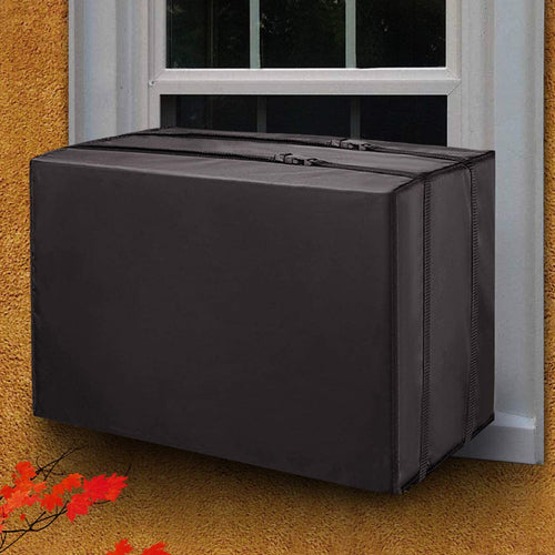 (T453)TAKTOPEAK Window Air Conditioner Cover, Dust-Proof and Waterproof Window AC Cover for Outside Part, Heavy Duty Defender, Bottom Covered