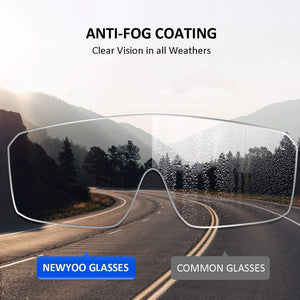 (T409) NEWYOO Anti-Fog Safety Goggles Clear Protective Glasses with Side Shields Adjustable Arms Anti-Scratch Impact Resistant Wraparound Lens Men Women Eyewear