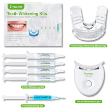 Load image into Gallery viewer, (Y055)Teeth Whitening, Teeth Whitener, Bright Teeth Whitening Kit, 4 Syringes of 5ml Professional 35% Carbamide Peroxide Tooth Whitening Gel,LED Light, Mouth Tray.