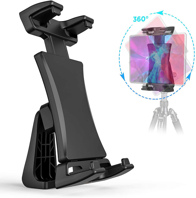 (T472)Tripod Mount Adapter for iPad with Remote 360 Degree Rotatable Break-Resistant, Universal Tablet Clamp Holder