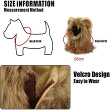 Load image into Gallery viewer, (R824)LAWOHO Pet Halloween Costume, Lion Mane Hat for Kittens Puppy Dogs Halloween Christmas Easter
