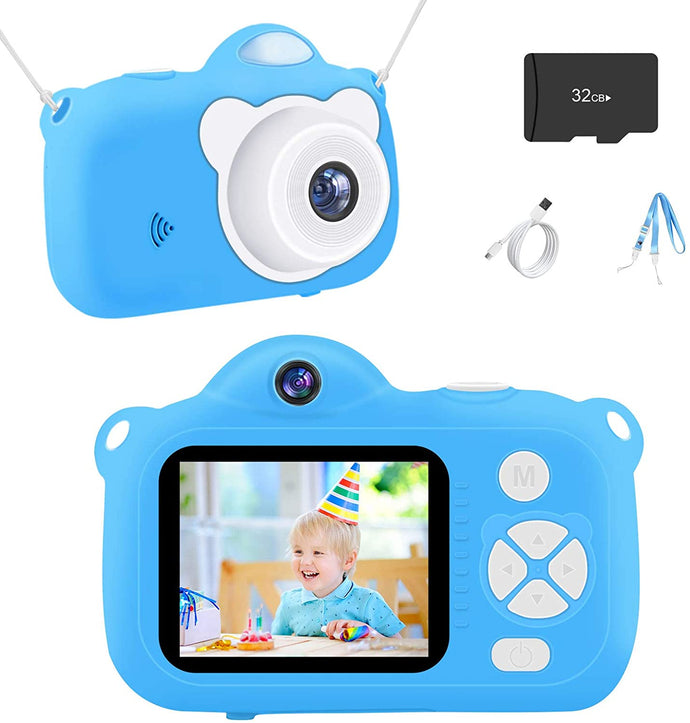 (G192)Vacpower Kids Camera, Upgraded 1080P HD Kids Digital Camera with 32G SD Card, Best Christmas Birthday Gifts Learning Toys for 3 4 5 6 7 8 9 10 9 Year Old Girls Boys