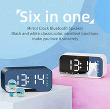 Load image into Gallery viewer, (R414)Bluetooth Speakers Portable Wireless with FM Radio,Small Loud Outdoor Bluetooth Speaker Set,Bluetooth Alarm Clock with USB for Bedroom,LED Screen