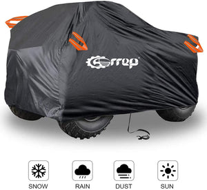 (T287)Waterproof ATV Cover - ATV Quad Windproof Covers ATC Rain Cover UV Protects 4 Wheeler for Polaris Sportsman Outlaw Yamaha Grizzly Wolverine YFZ Honda Sportrax TRX