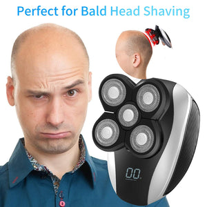 (S151)Electric Shavers for Men, JLMAX 5D Floating Head Shaver for Bald Men IPX6 Waterproof 5 in 1 Mens Electric Razor With Clippers Nose Hair Trimmer Facial Cleansing Brush