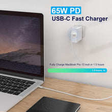 Load image into Gallery viewer, (X711)Gaea 65W USB C Power Adapter Compatible with Macbook Pro 13,15 inch,New Macbook Air 2020/2018/2019, Fast Charger