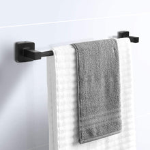 Load image into Gallery viewer, (D315)HUOSUC Bathroom Hardware Set 4 Pieces,Towel Bar Set Stainless Steel, Includes 17In Towel Bar, Towel Ring, Robe Towel Hooks,Toilet Paper Holder, Bathroom Towel Rack Set