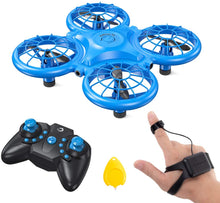 Load image into Gallery viewer, (T920)Dragon Touch DK01 Mini Drones for Kids, Multiple Remote Controls-Hand Operated RC Quadcopter, G-Sensor Mode, 3D Flips, Altitude Hold, Headless Mode