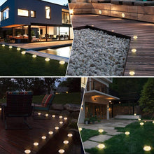Load image into Gallery viewer, (S246)Solar Ground Lights 16 Packs - 8 LED Solar Garden Lights Outdoor Waterproof in-Upgraded Outdoor Garden Waterproof Bright in-Ground Lights