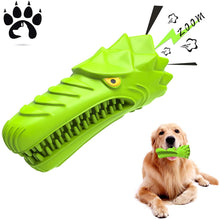 Load image into Gallery viewer, (H307) ES Dog Chew Toys, Aggressive Chewers Medium Large Breed,Natural Rubber Dog Toothbrush & Squeaky Chew Toys,Tough Extremely Durable Tear-Resistant Eagle Shape Dog Toys