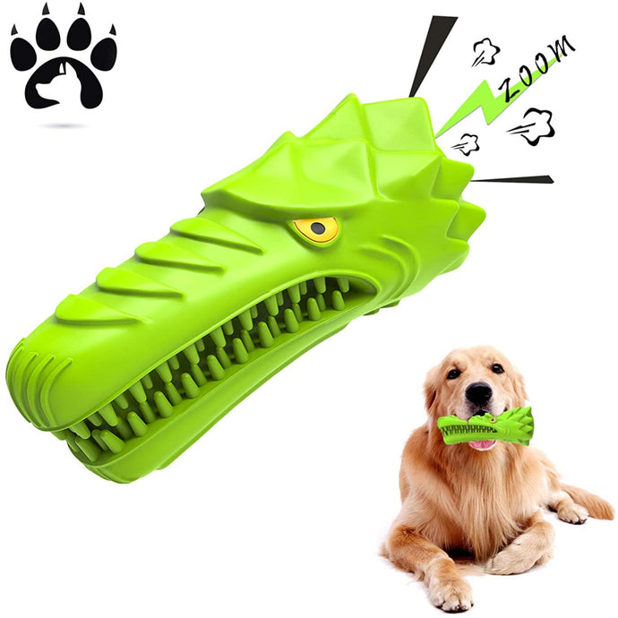 (H307) ES Dog Chew Toys, Aggressive Chewers Medium Large Breed,Natural Rubber Dog Toothbrush & Squeaky Chew Toys,Tough Extremely Durable Tear-Resistant Eagle Shape Dog Toys