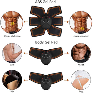 (Q613)BLUE LOVE Abs Stimulator, Muscle Toner - Abs Stimulating Belt- Abdominal Toner- Training Device for Muscles- Wireless Portable to-Go Gym Device- Muscle Sculpting at Home- Fitness Equipment