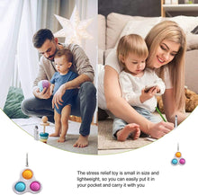 Load image into Gallery viewer, (H290)GIERYESA Simple Dimple Fidget Toys, Bubble Sensory Fidget Toy, Pressure Relief Toys with Buckle Ring Stress Relief and Anti-Anxiety Puzzle...
