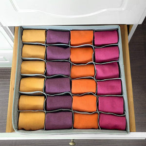 (D495)Thepeak Closet Underwear Organizer Drawer Divider 4 Pack Sock Underwear Organizer Foldable Cabinet Closet Organizers and Storage Boxes...