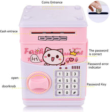 Load image into Gallery viewer, (Y936)Serendipity Electronic Piggy Bank for Kids, Money Bank with Password Cute Piggy Bank Coin Can, Auto Scroll Paper Money Saving Box, Great Toy Gift