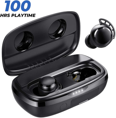 (E982)Tribit FlyBuds 3 Wireless Earbuds - 100H Playtime 2600mAh Charging Case IPX7 Waterproof USB-C Touch Control Bluetooth 5.0 Earbuds Deep Bass