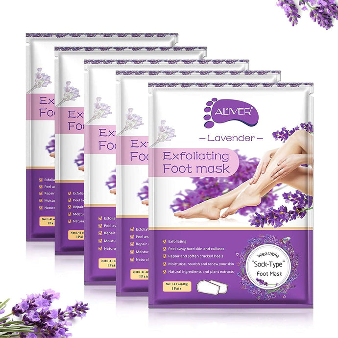 (S934)5 Pack Foot Peel Mask,Baby Foot Mask Exfoliating Foot Peel Mask for Removing Calluses,Dead Skin.Foot Care
