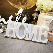 Load image into Gallery viewer, (R742)Home Letter Silicone Resin Mold, Epoxy Resin Casting Mold, Warm Family Word Mold for DIY Craft,Wedding, Table Decoration, Christmas