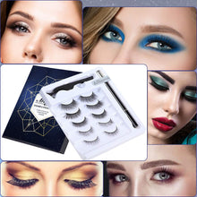 Load image into Gallery viewer, (E420)5 Pairs Lashes and Eyeliner Set Upgraded Reusable Waterproof Eyeliner