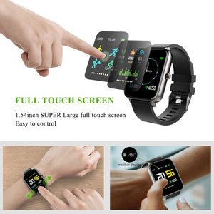 (D054) Smart Watch Square Multifunction for Men Women, Compatible for Android iOS Phones