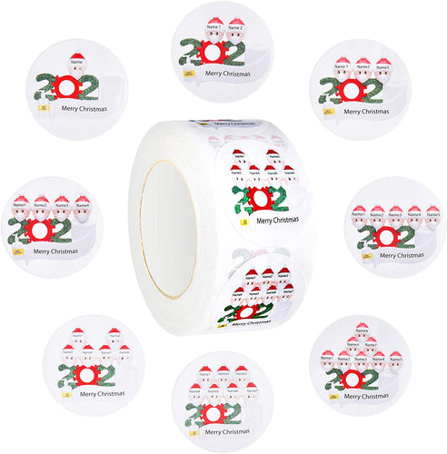 (V320)500PCS Christmas Stickers,1.5 inch 2020 Merry Christmas Round Label Sticker roll for Cards Crafts Envelopes Gift Boxes Sealing Decoration
