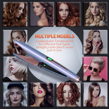 Load image into Gallery viewer, (K830)YiJiaBa 30 Millions+ Ionic Hair Straightener and Curler 2 in 1, Professional Flat Iron for Hair Straightening Curling, Adjustable Temp